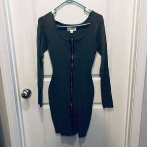 Say What? Juniors Army Olive Green Sweater Dress